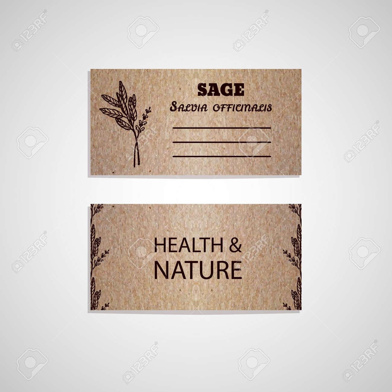 Sant Et Nature Collection Modle De Carte Visite Carton Avec