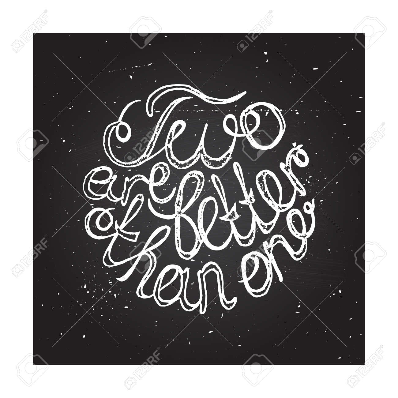 hand sketched typographic elements on chalkboard background for