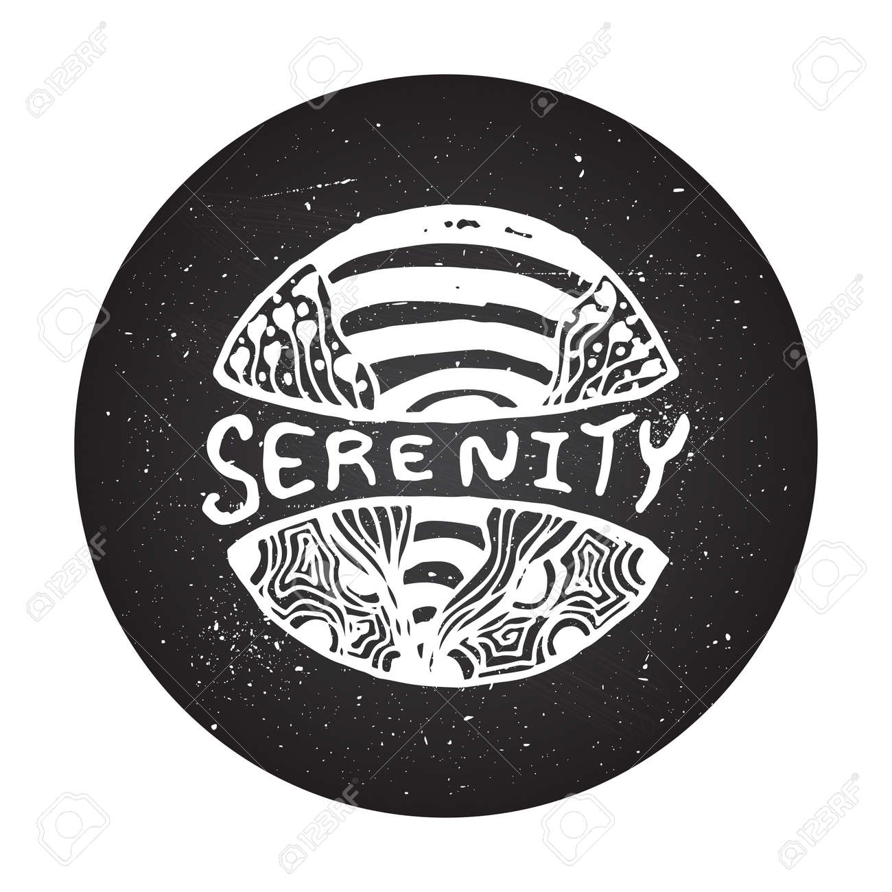 Serenity sign on chalkboard background detailed hand drawn serenity sign on chalkboard background detailed hand drawn zentangle logo for ethnic shop yoga biocorpaavc Gallery