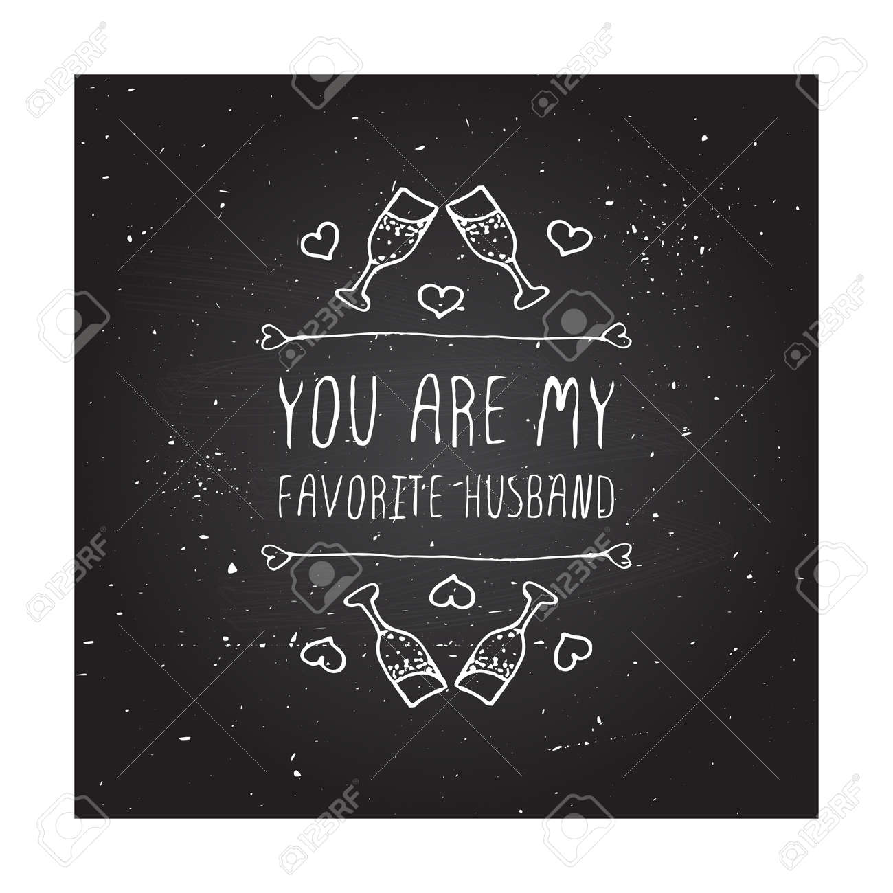 Saint Valentines Day Greeting Card You Are My Favorite Husband