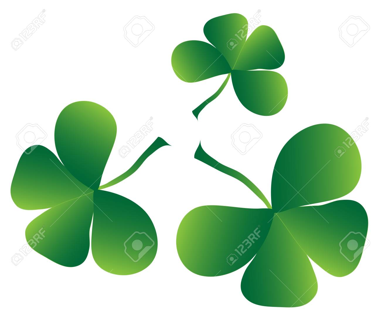 Clover four leaf for saint patrick s day Stock Vector - 17458822
