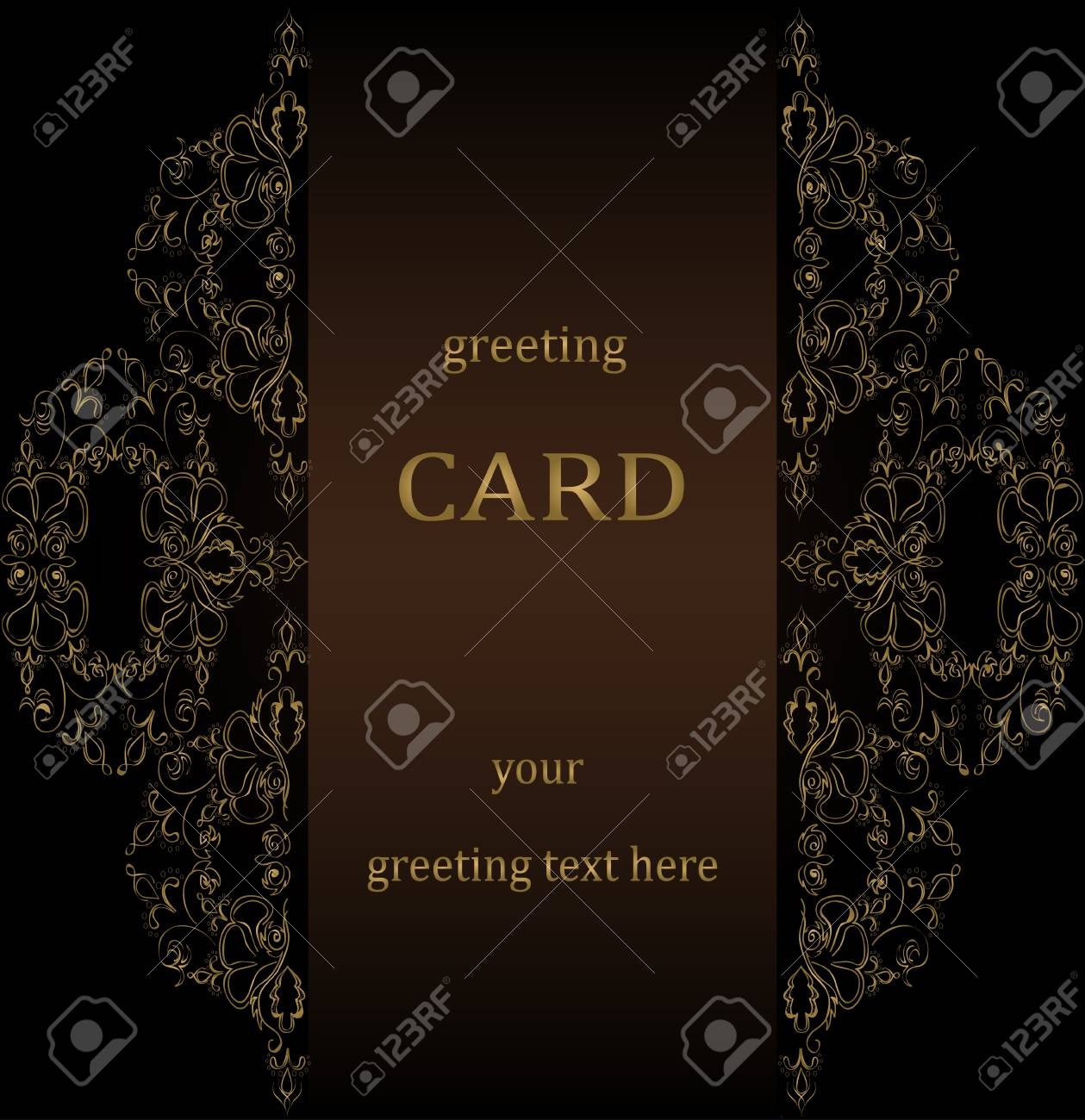 Vintage Greeting Cards In Victorian Style Vector Royalty Free