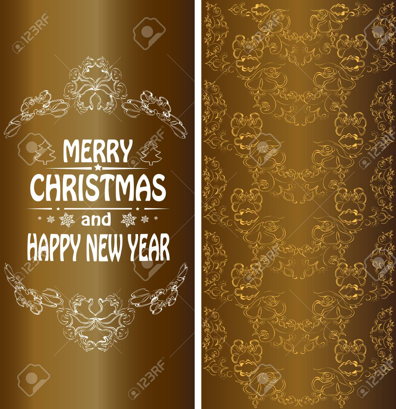 christmas banner in the victorian style stock vector 31815487