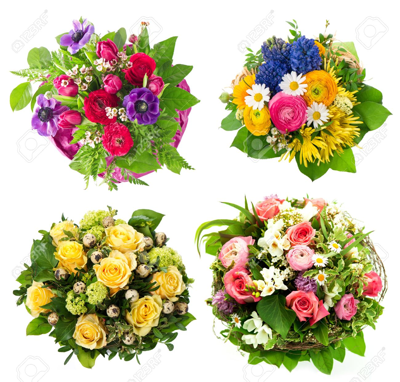 Colorful flowers bouquet roses tulips ranunculus hyacinth colorful flowers bouquet roses tulips ranunculus hyacinth daisy anemone dhlflorist Choice Image