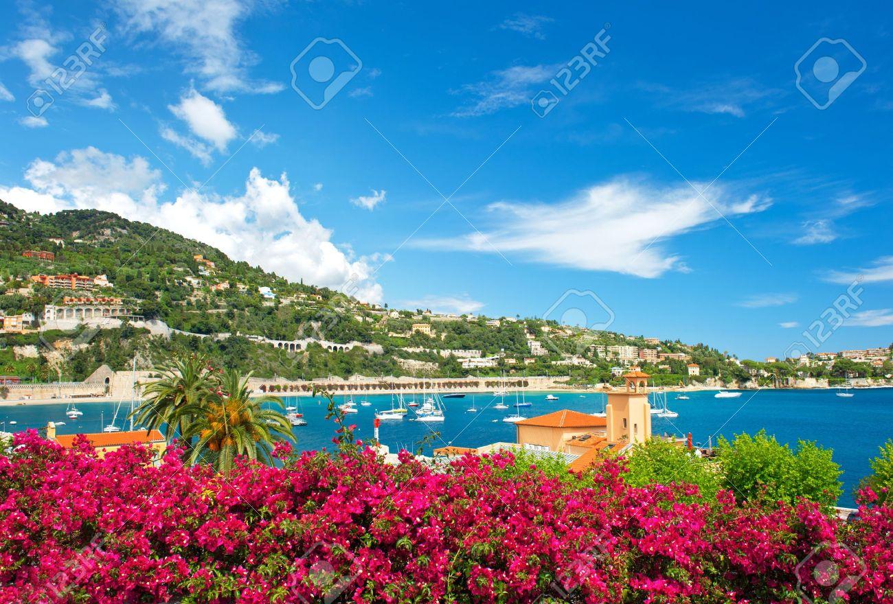 beautiful mediterranean landscape. french riviera near Nice and Monaco - 21225938