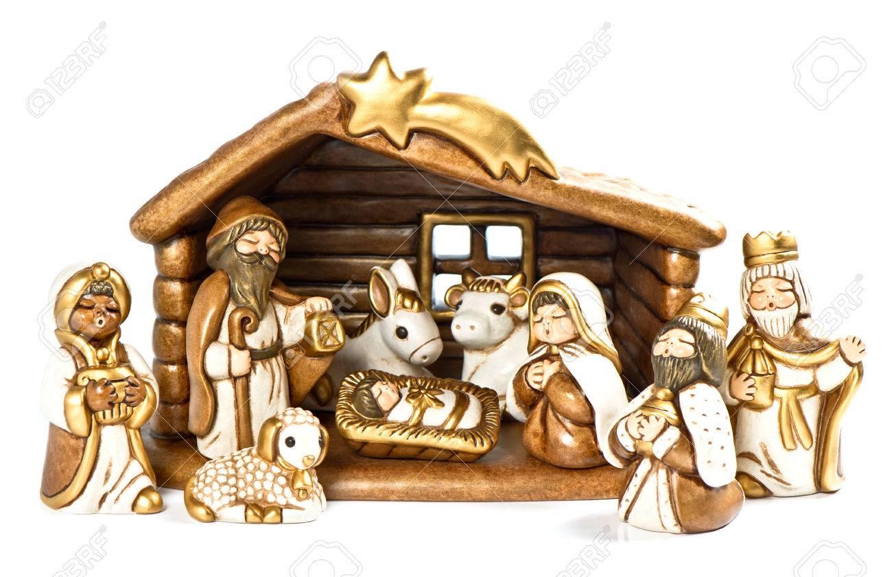 Immagini Di Natale Sacra Famiglia.Presepe Di Natale Presepe Sacra Famiglia Gesu Cristo Maria E Giuseppe E Tre Re