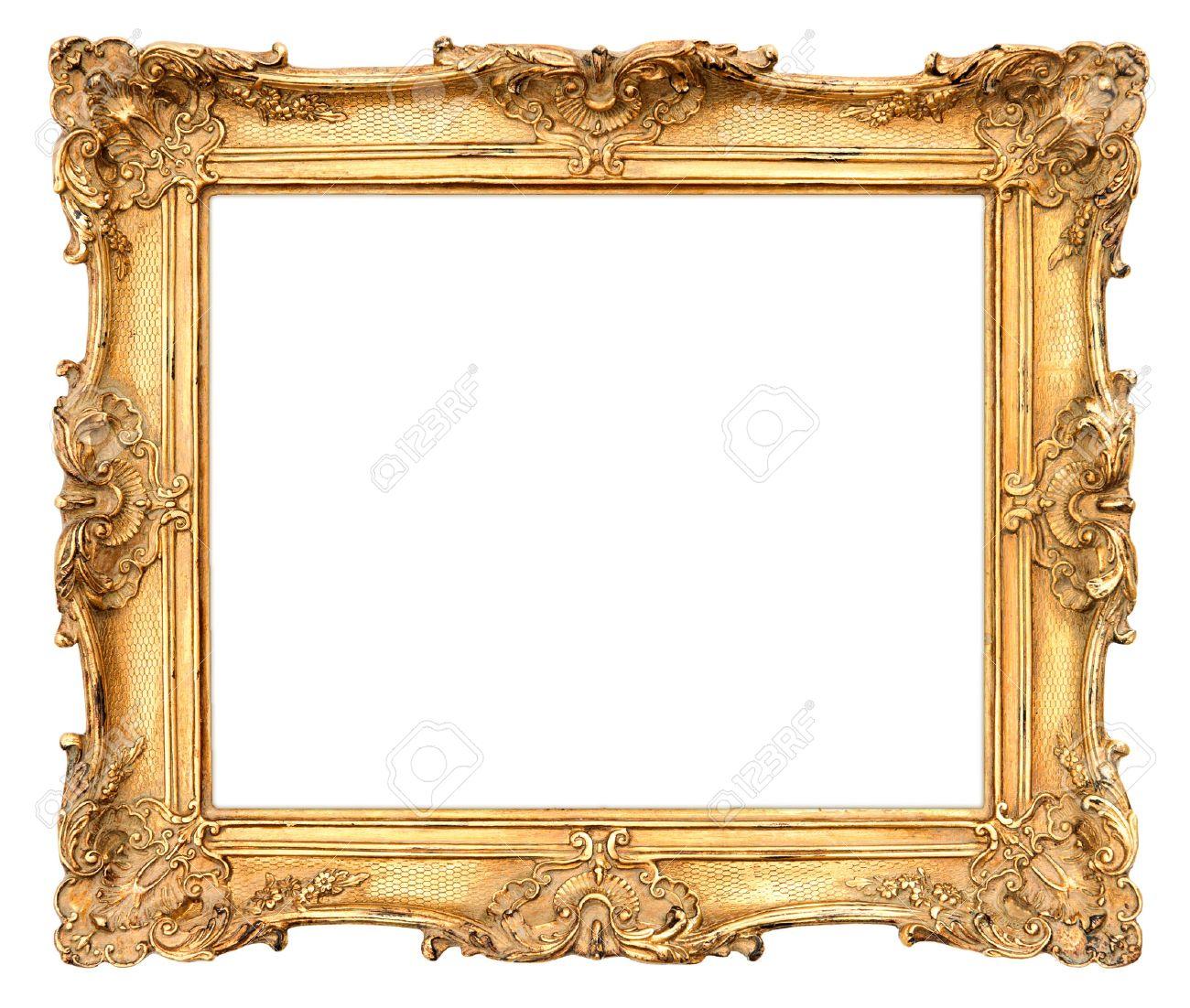 Alten Goldenen Rahmen Schönen Vintage-Hintergrund Lizenzfreie Fotos ...