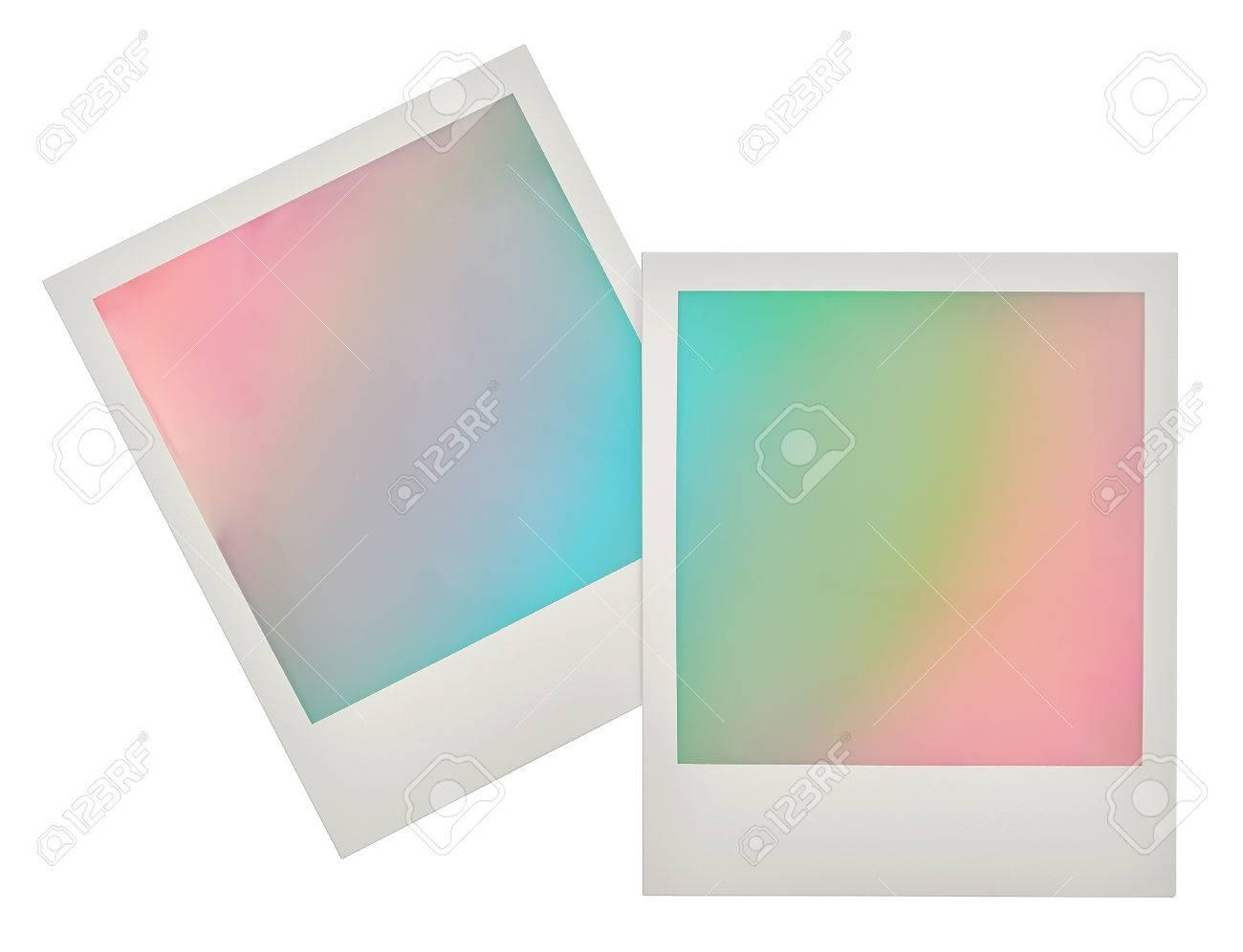 Cornici Colorate Per Foto cornici per foto istantanea con sfondo colorato pastello. design in stile  retrò per la tua immagine