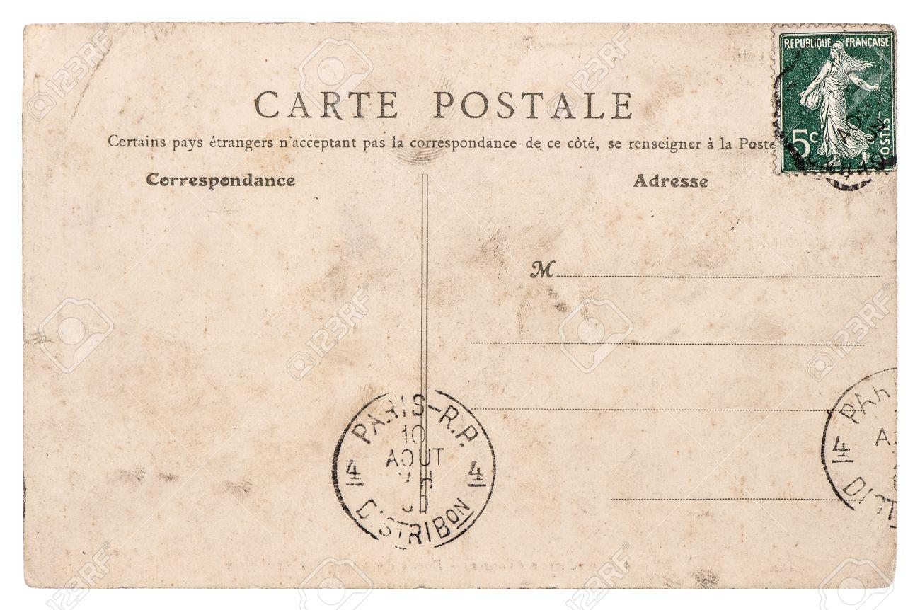 Carte Postale Francaise.Vide Antique Carte Postale Francaise De Paris Vintage Paper