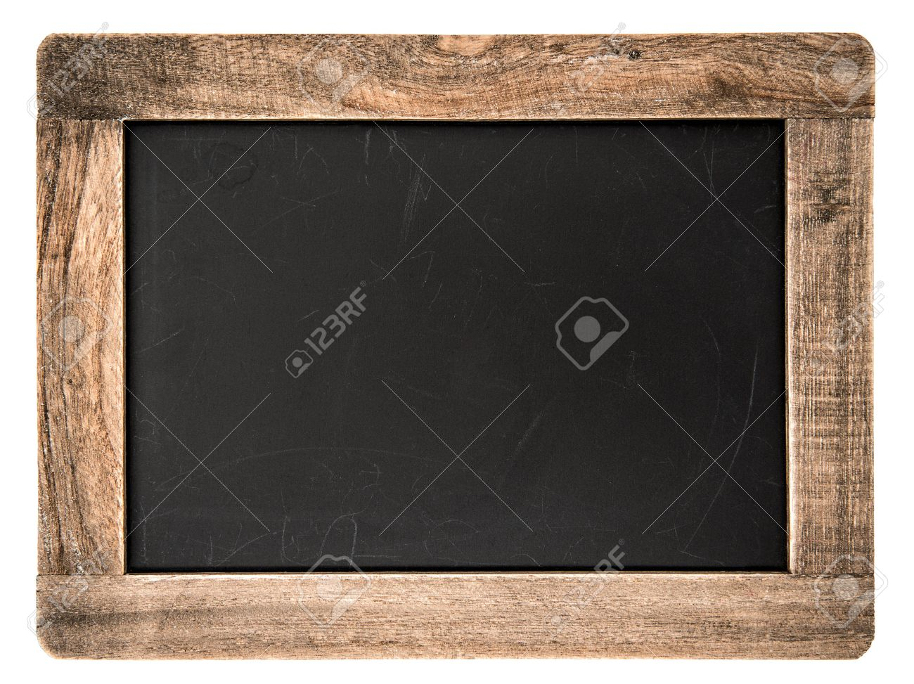 Vintage Blackboard With Wooden Frame Isolated On White Background ...