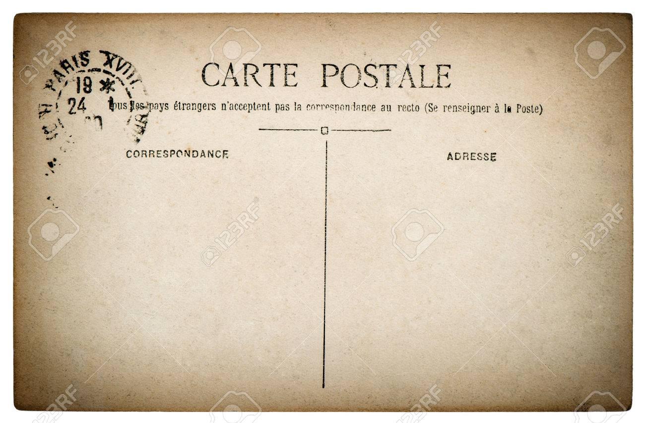 Carte Postale Francaise.Vide Antique Carte Postale Francaise De Paris Cru Papier De