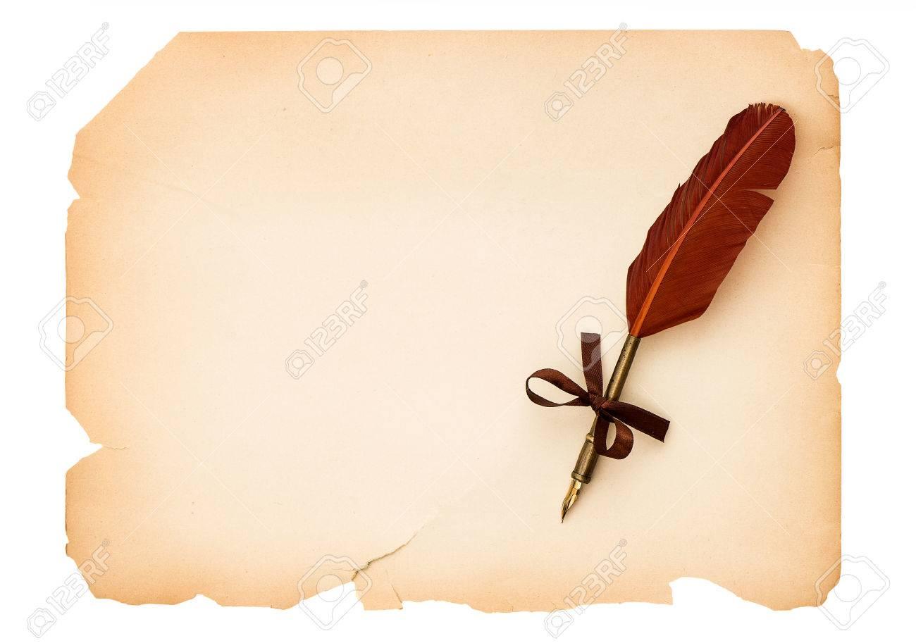 Página De Papel En Blanco Vacío Con Fondo Antiguo De La Vendimia ...