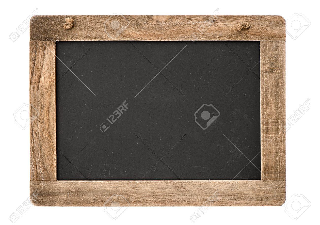 Verwonderlijk Vintage-Tafel Mit Holzrahmen Isoliert Auf Weißem Hintergrund Tafel FO-64