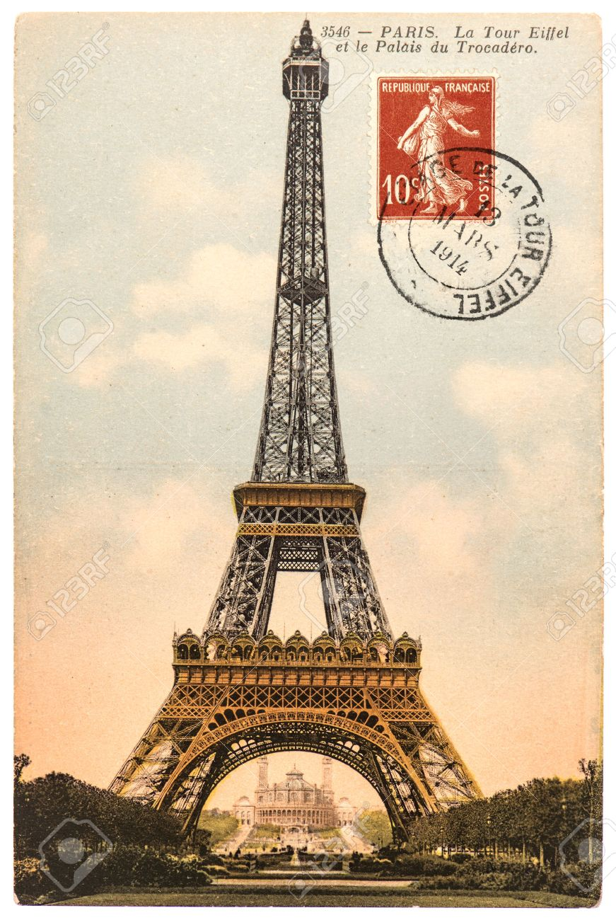 Exceptionnel Vintage Postcard With Eiffel Tower La Tour Eiffel In Paris  BG13