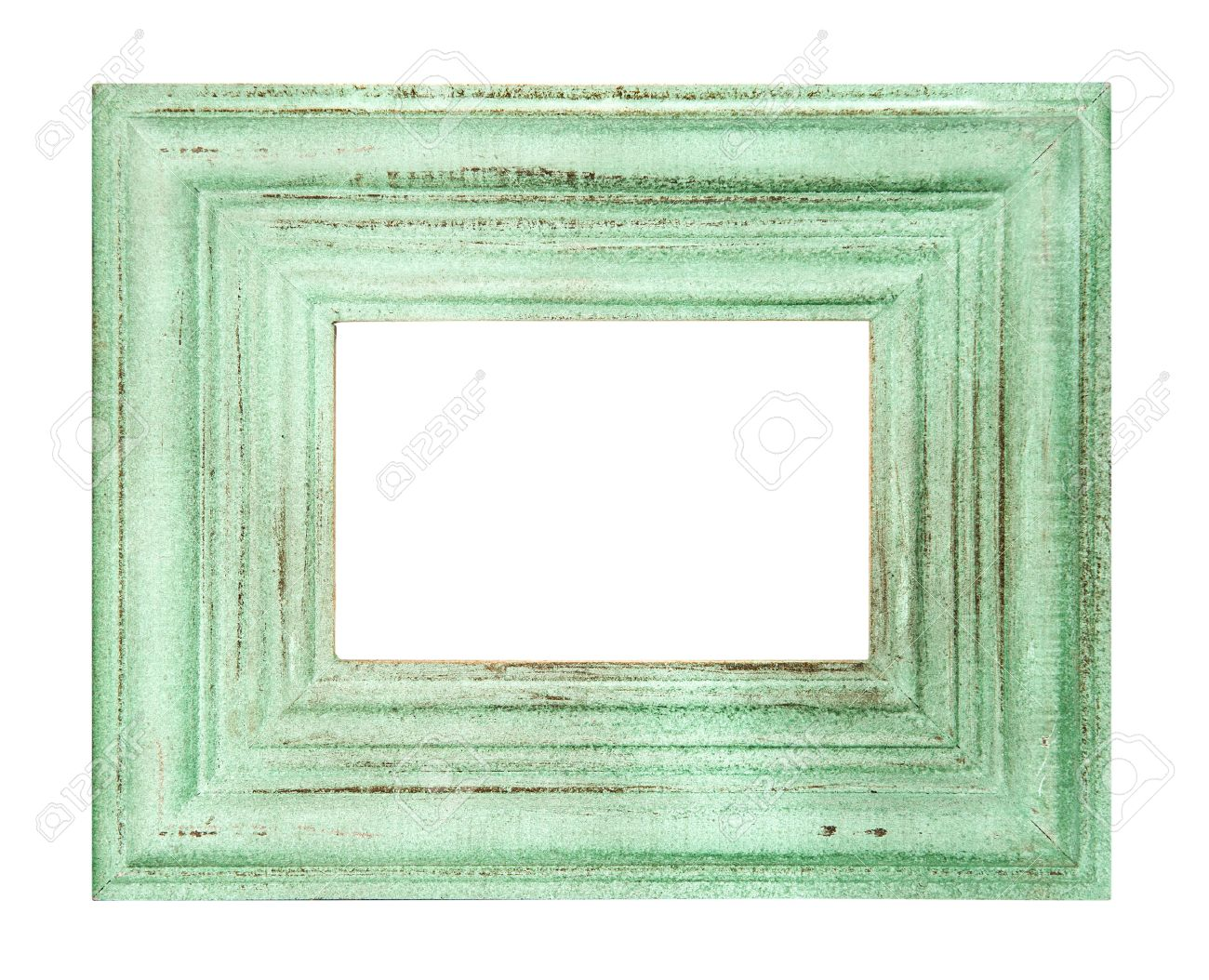 Vintage Style Green Colored Frame Isolated On White Background ...