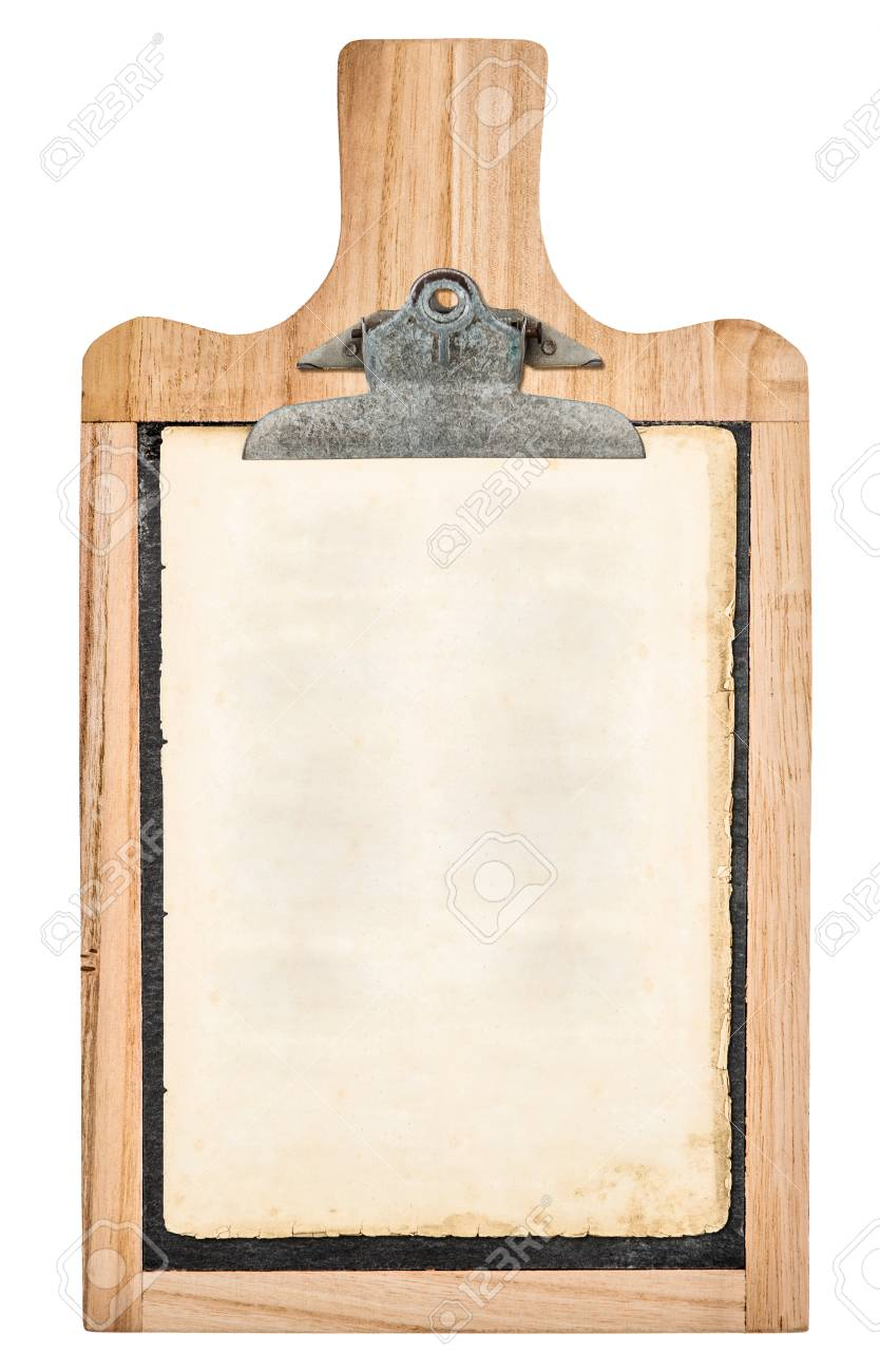 Kitchen Board With Clipboard For Your Text And Recipe Isolated ...