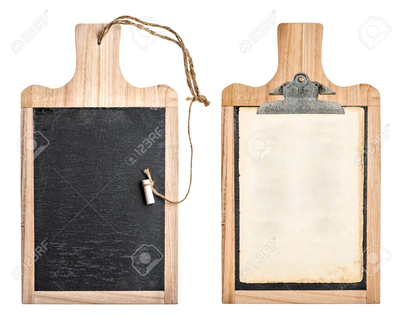 Kitchen Board With Chalkboard And Clipboard For Your Text And ...