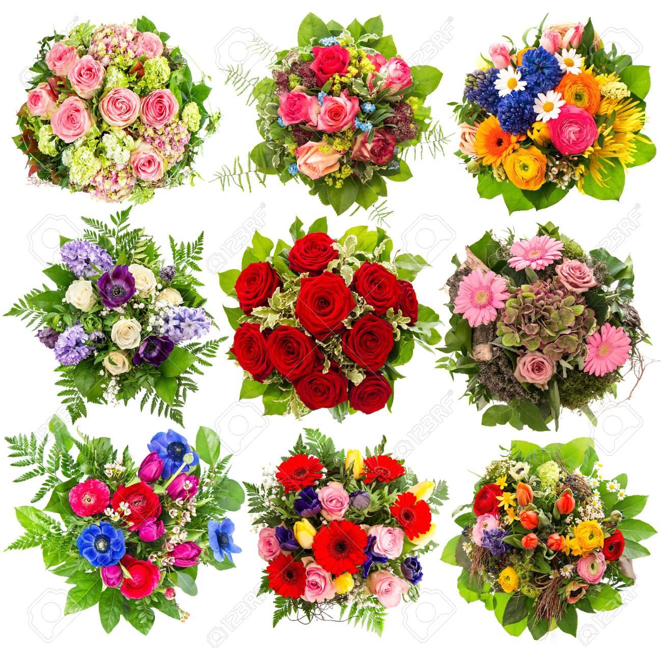 Nine colorful flowers bouquet for birthday wedding mothers stock nine colorful flowers bouquet for birthday wedding mothers day easter anniversary izmirmasajfo