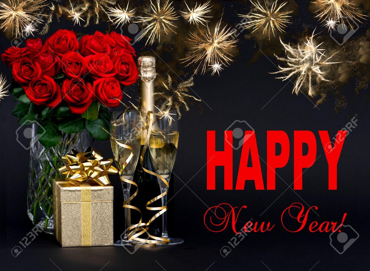 Resultado de imagen para rosas rojas con feliz año
