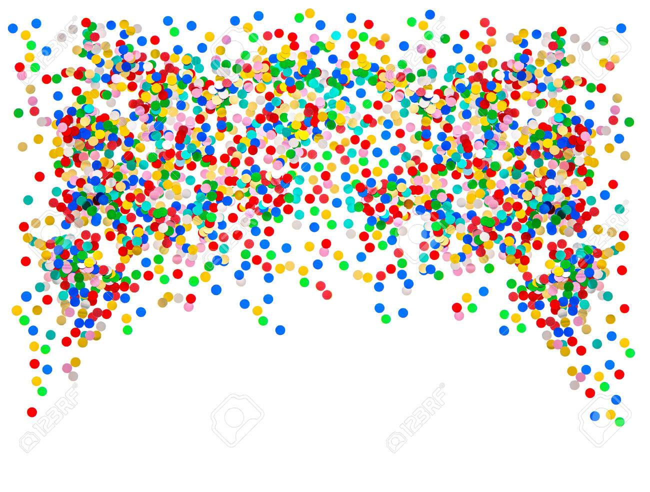 Colorful Confetti Background Red Blue Green Yellow Birthday
