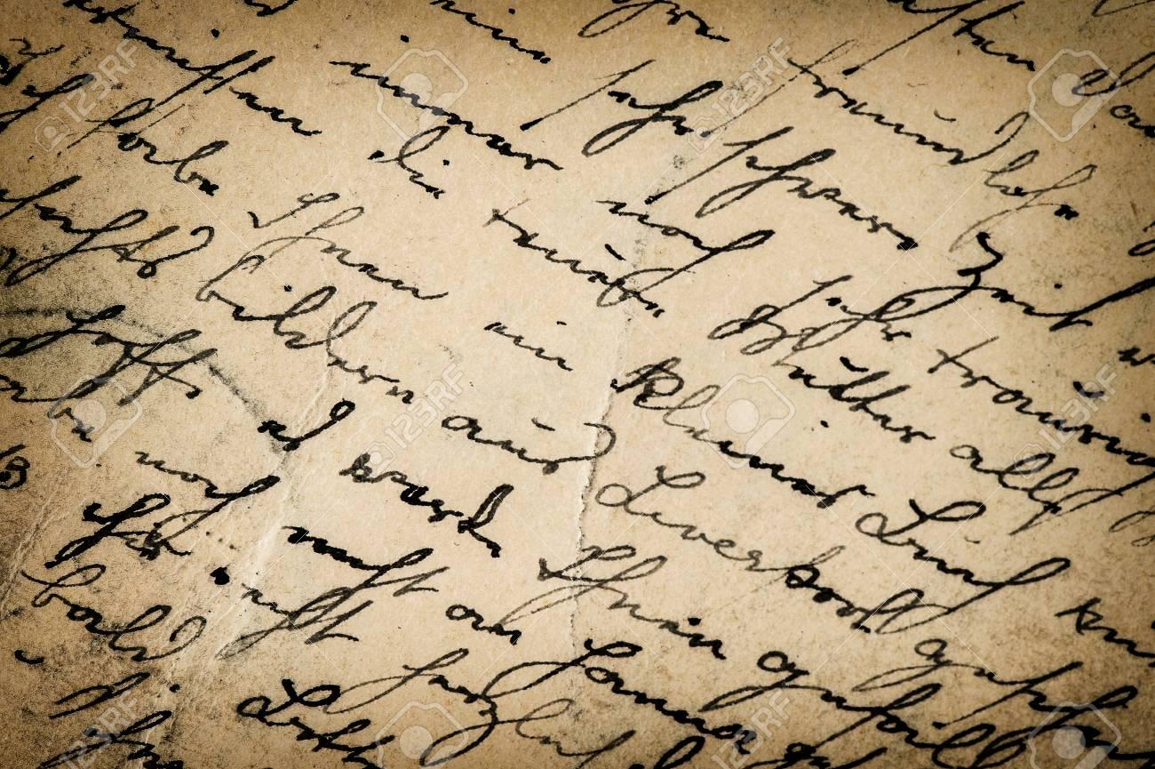 vintage handwriting  antique script  grunge paper background