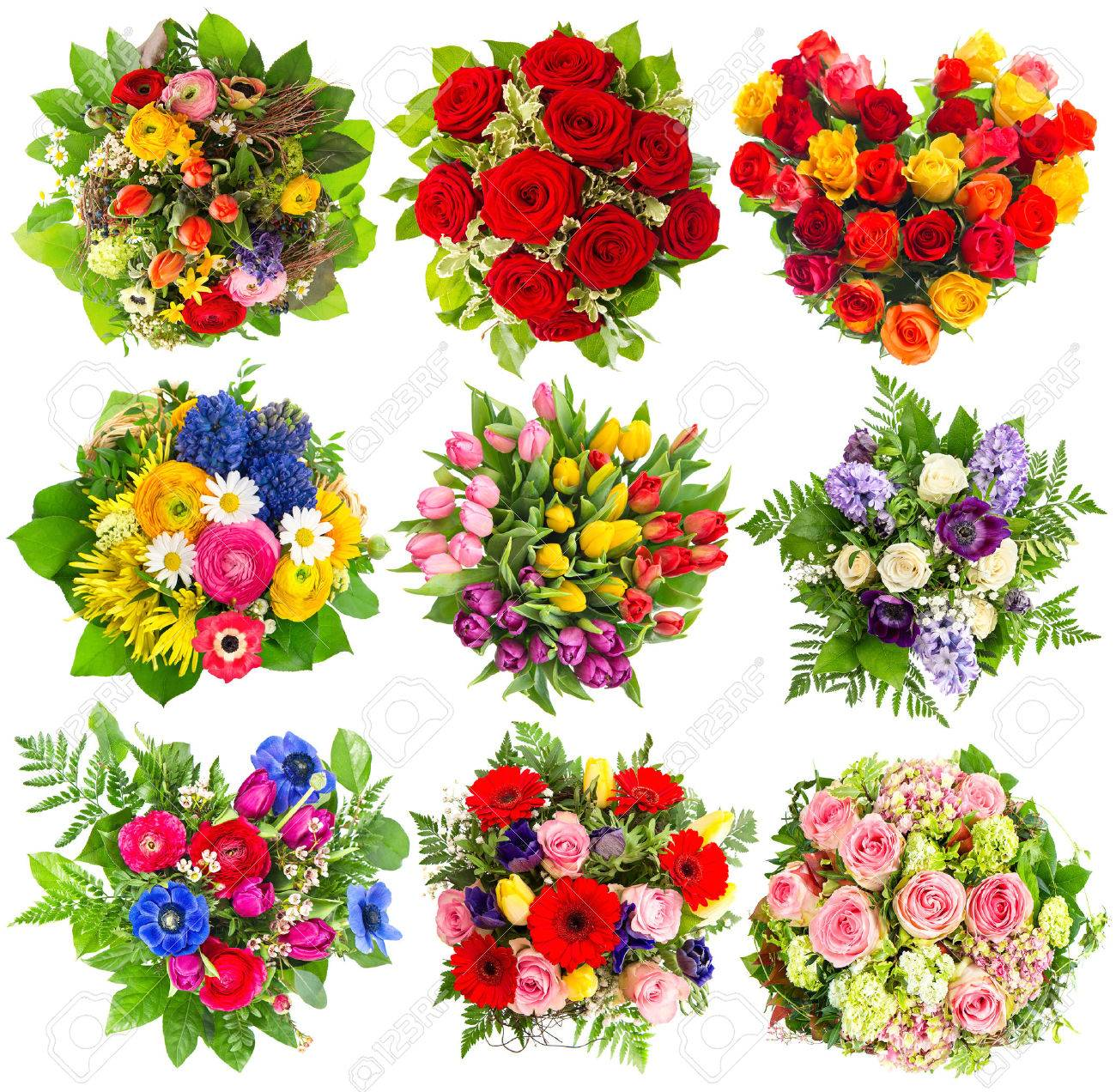Bouquets Of Colorful Flowers For Birthday Wedding Mothers Day
