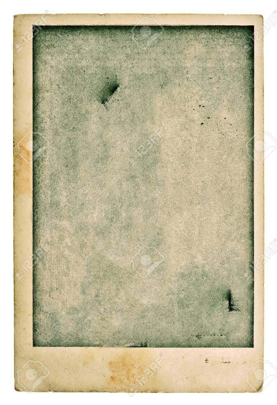 Immagini Stock Vecchia Cartolina In Bianco Della Foto Grunge