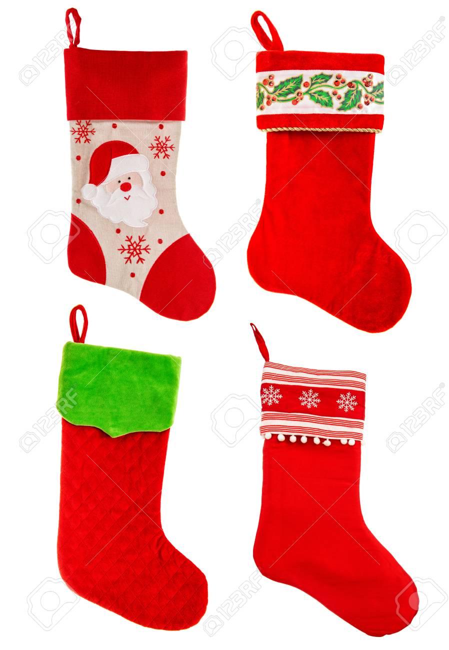 Weihnachtsstrumpf. Rote Socke Für Geschenke. Ornamente ...