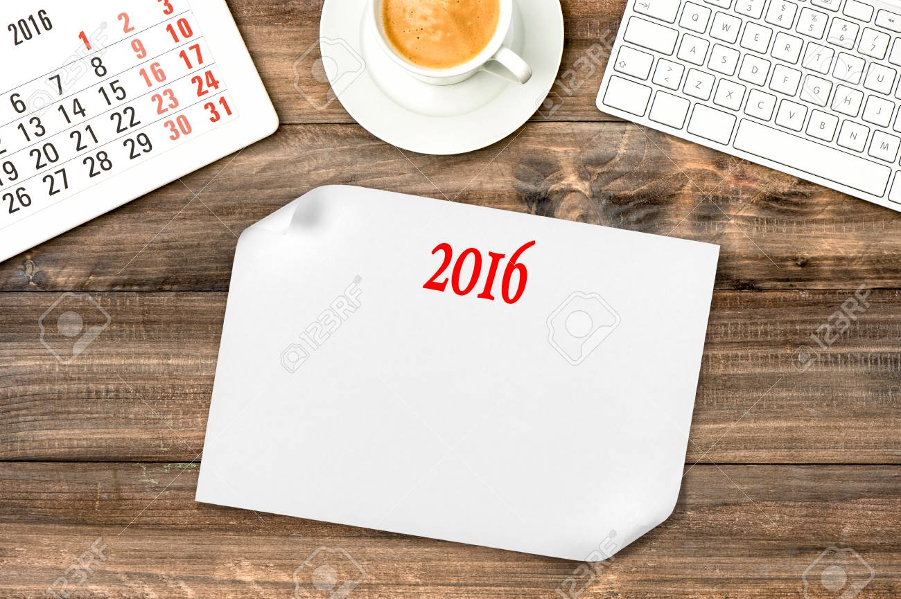 Fabulous Digital Gadgets Calendar 2016 Office Desk With Coffee Visions Download Free Architecture Designs Sospemadebymaigaardcom