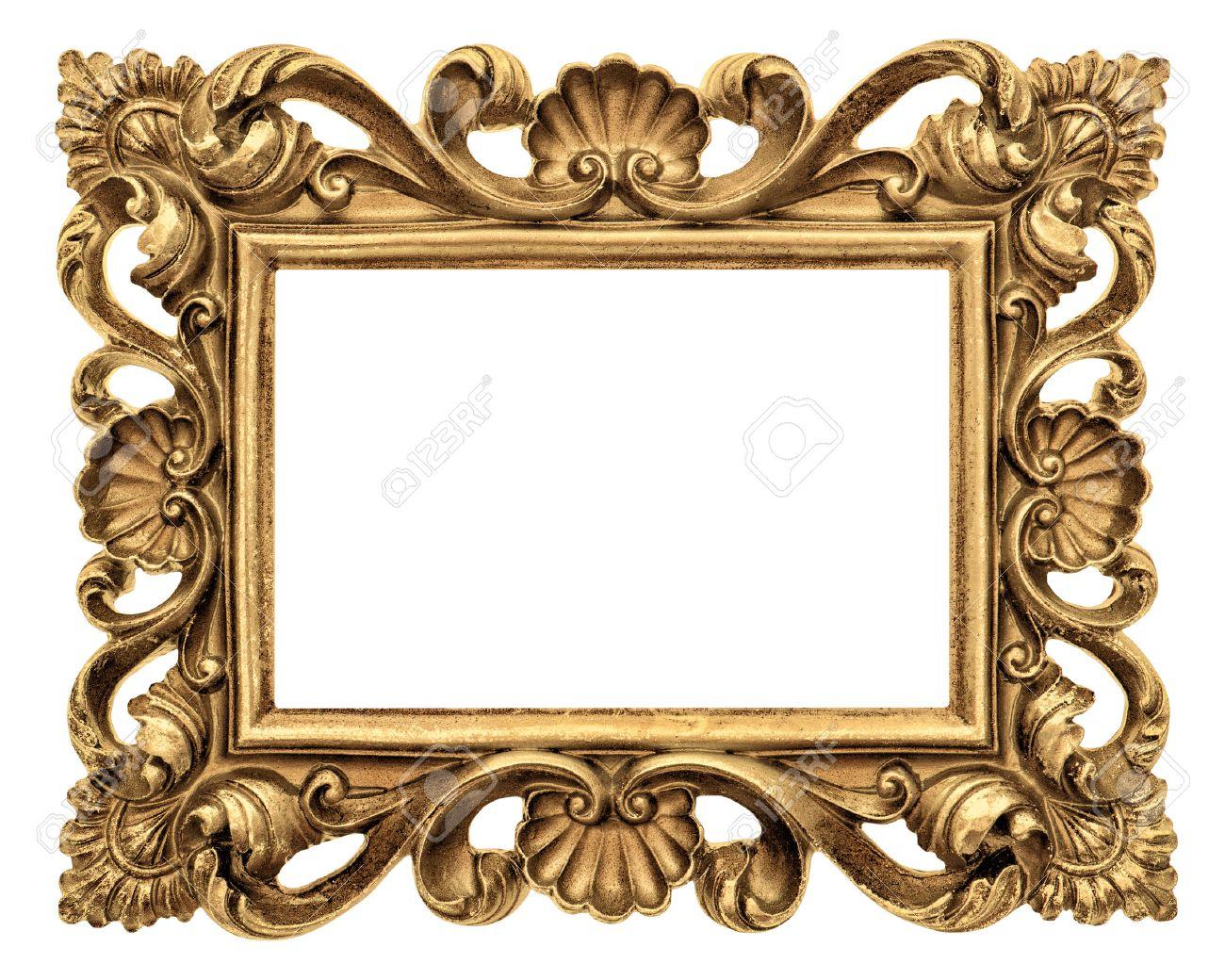 Rahmen Für Bild, Foto, Bild. Jahrgang Goldenen Objekt Barock-Stil ...