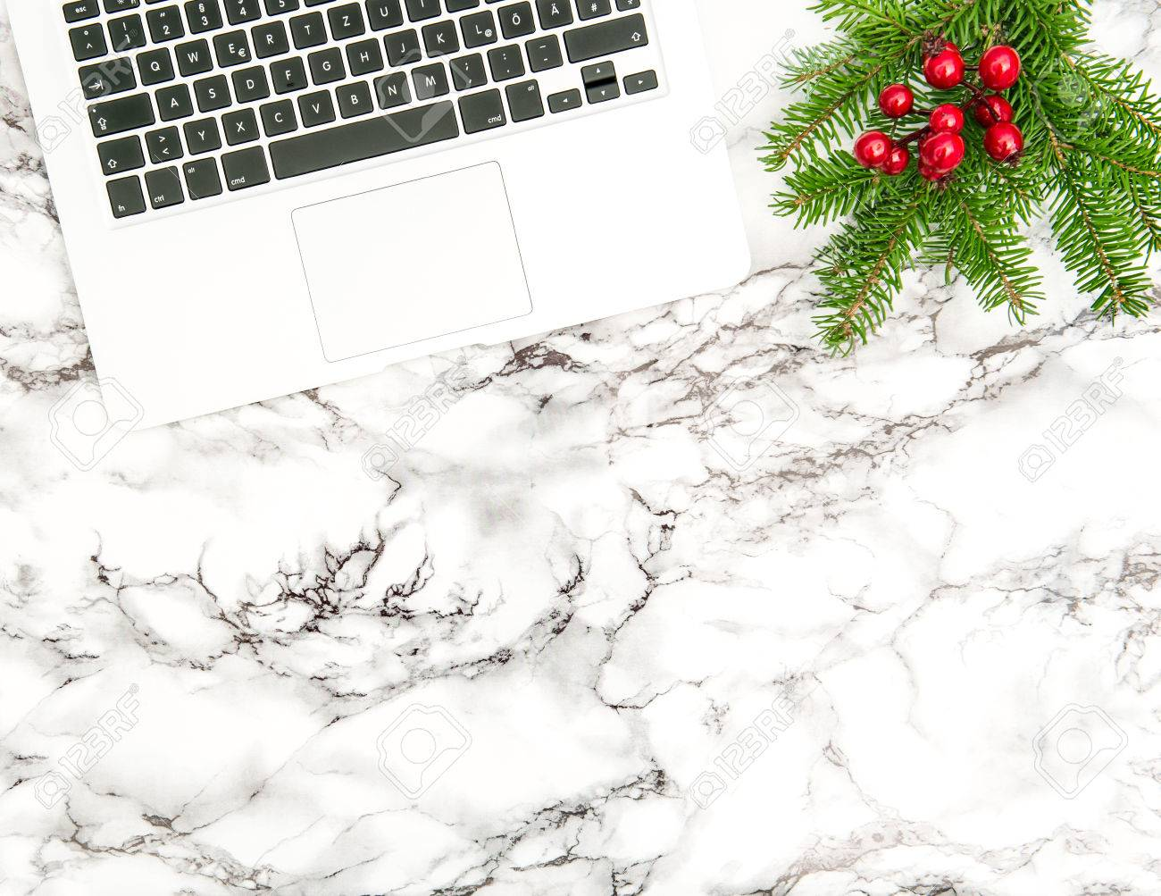How to start a christmas decor business - Notebook And Christmas Decoration Business Holidays Office Desk Flat Lay Stock Photo 65343716
