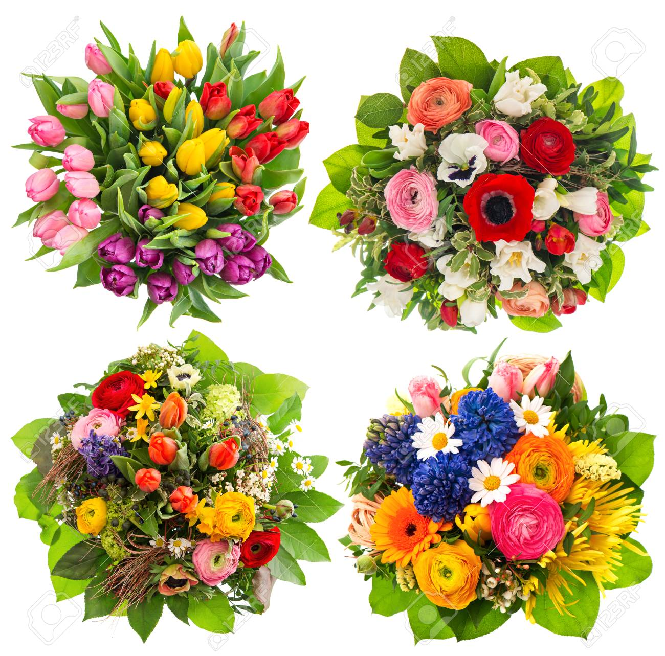 Colorful Flower Bouquets For Easter, Birthday, Wedding, Mothers ...