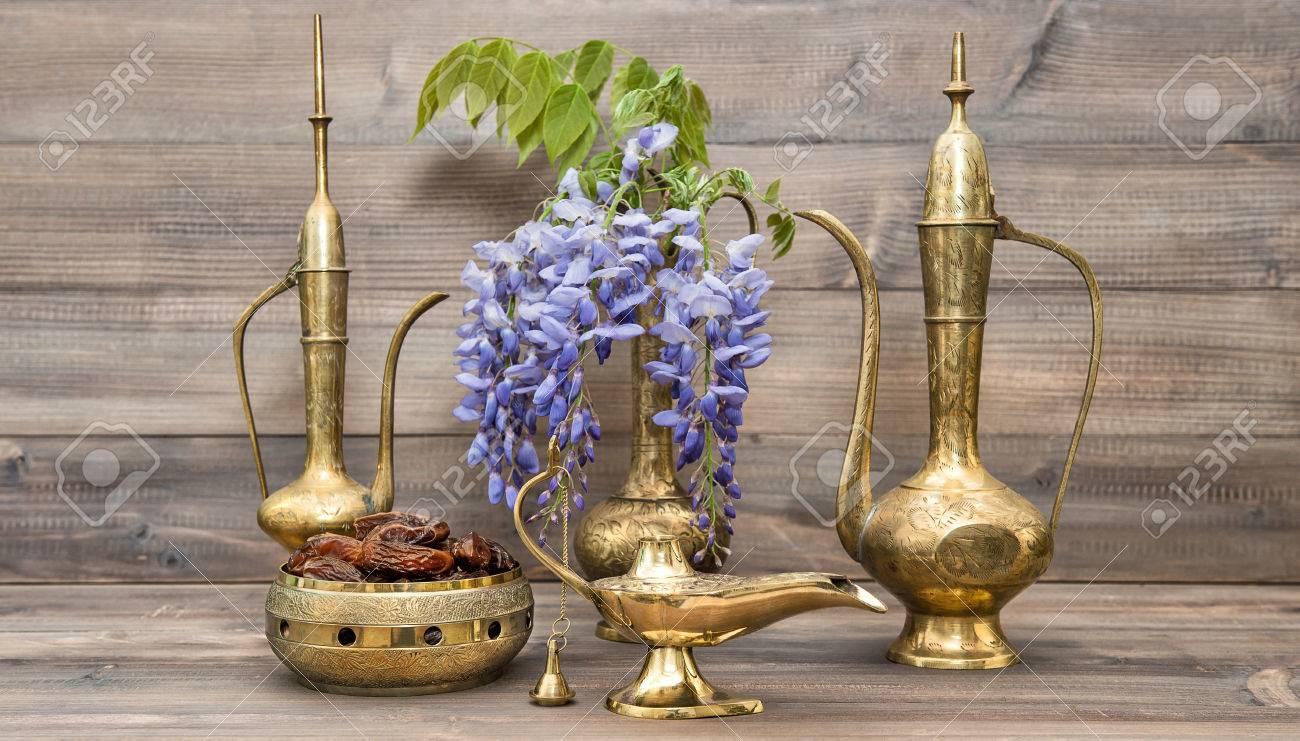 Golden oriental decorations ramadan kareem vintage arabic jug golden oriental decorations ramadan kareem vintage arabic jug vase lamp tea reviewsmspy
