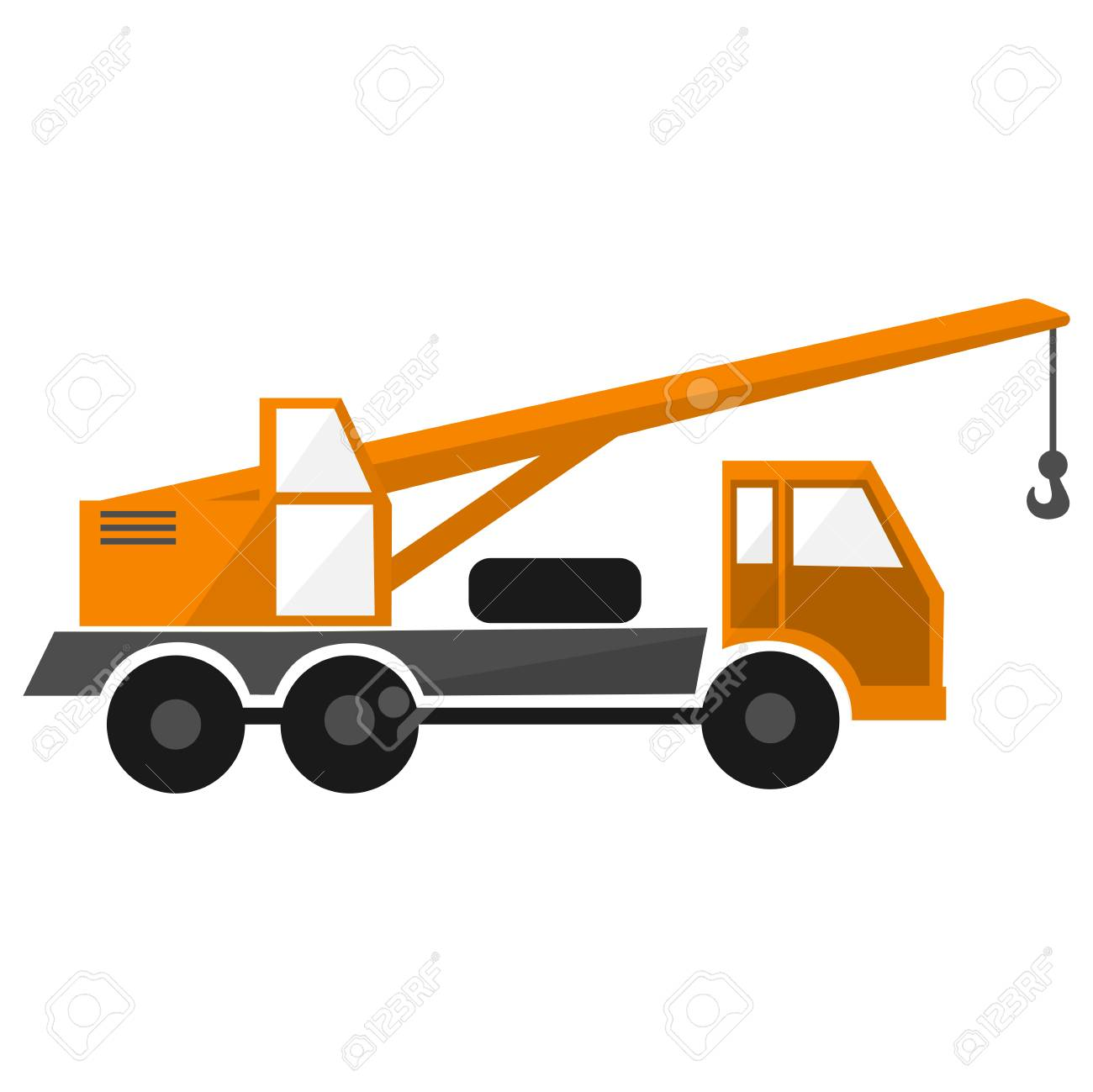 orange truck crane, construction car,industrial heavy automobile,.. royalty  free cliparts, vectors, and stock illustration. image 72995804.  123rf