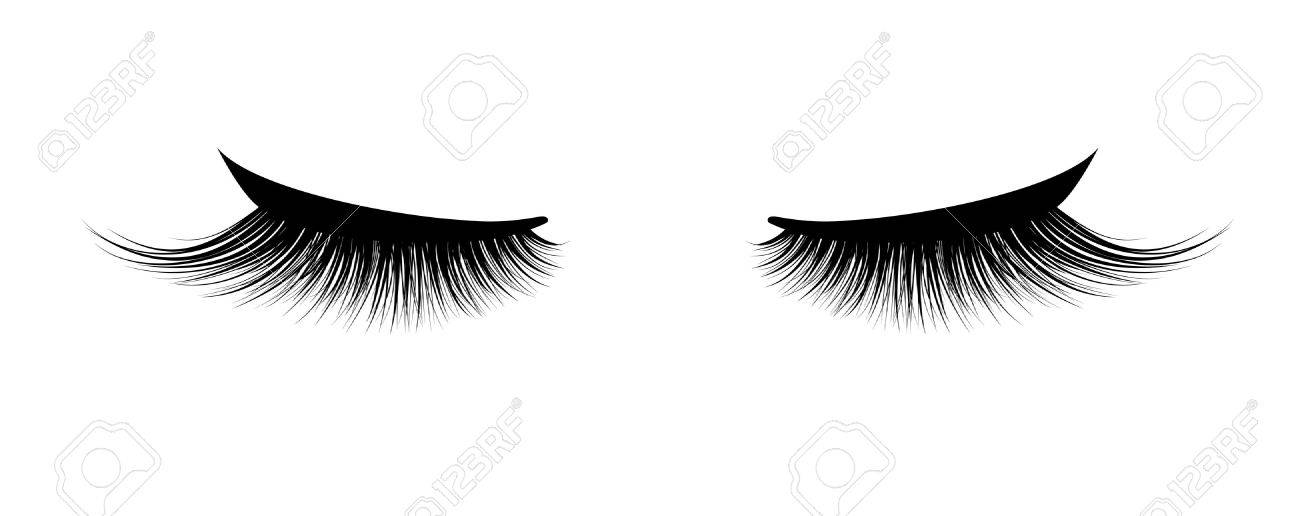 Eyelash extension. A beautiful make-up. Thick cilia. Mascara for volume and length. - 81636350