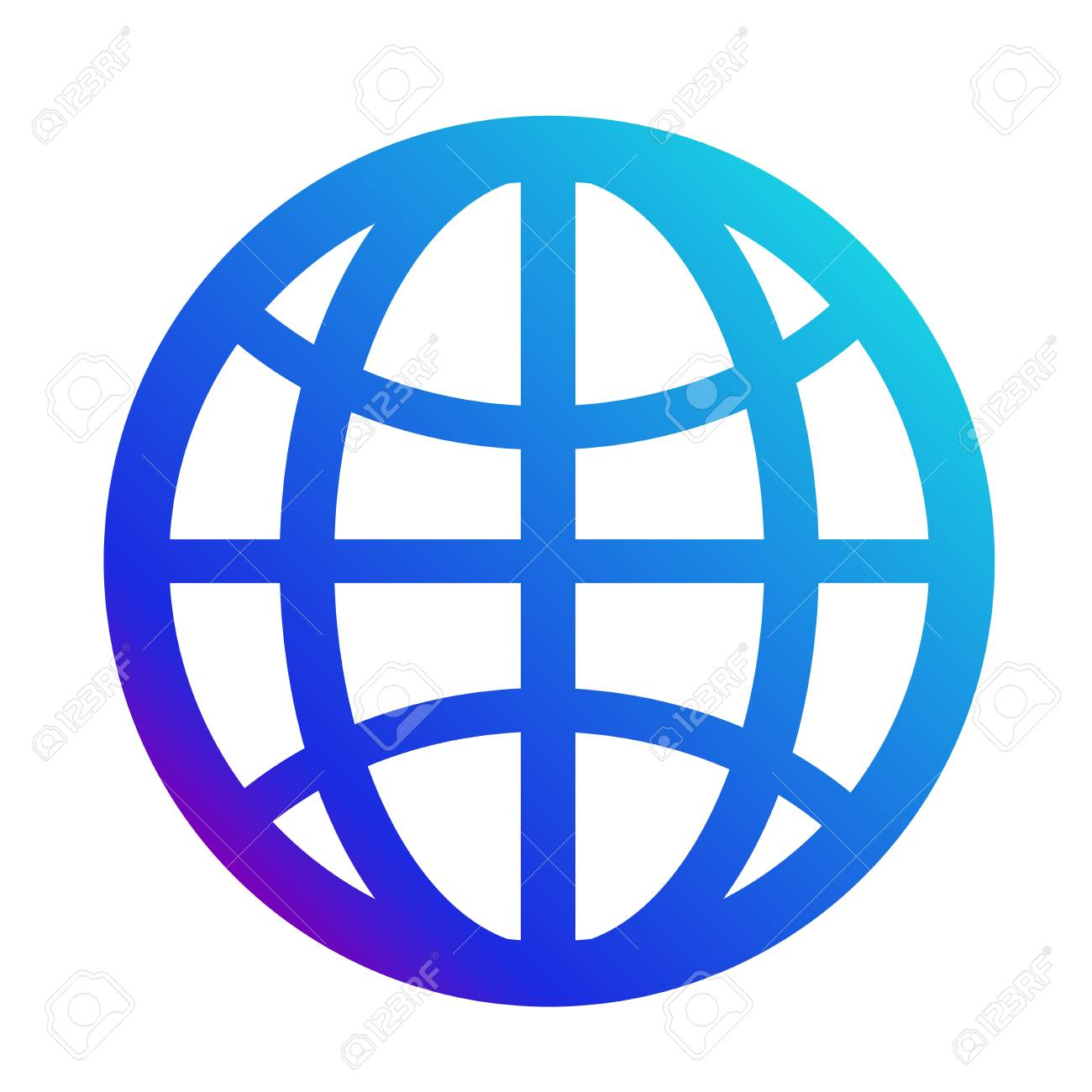 icon internet symbol of the website globe sign royalty free