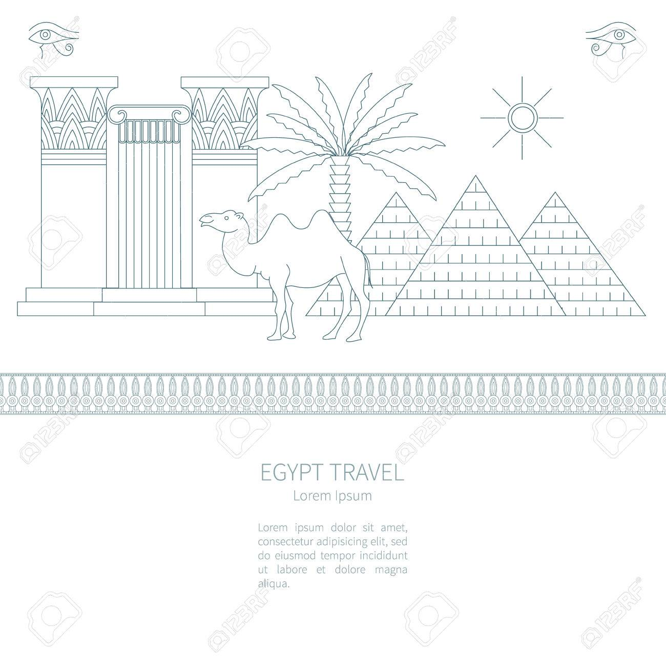 Ancient egypt vector set of icons and symbols columns palm ancient egypt vector set of icons and symbols columns palm tree pyramid biocorpaavc