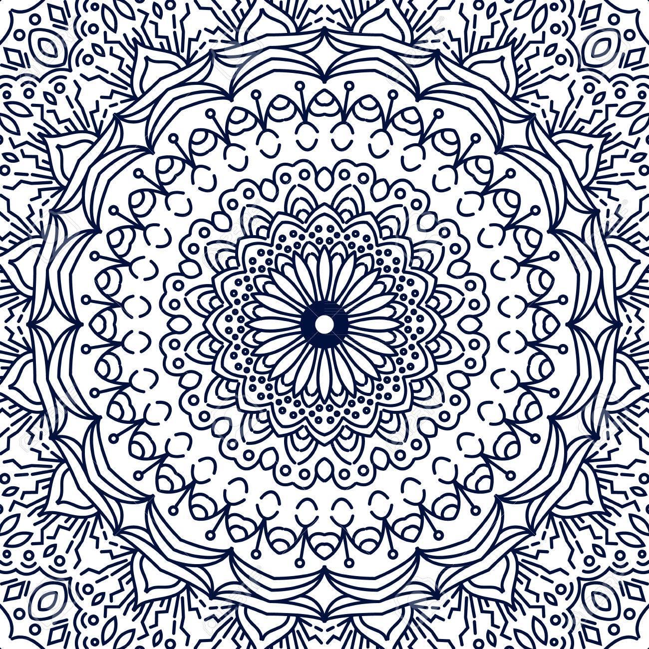 Excepcional Mandala Complejo Para Colorear Cresta - Dibujos Para ...