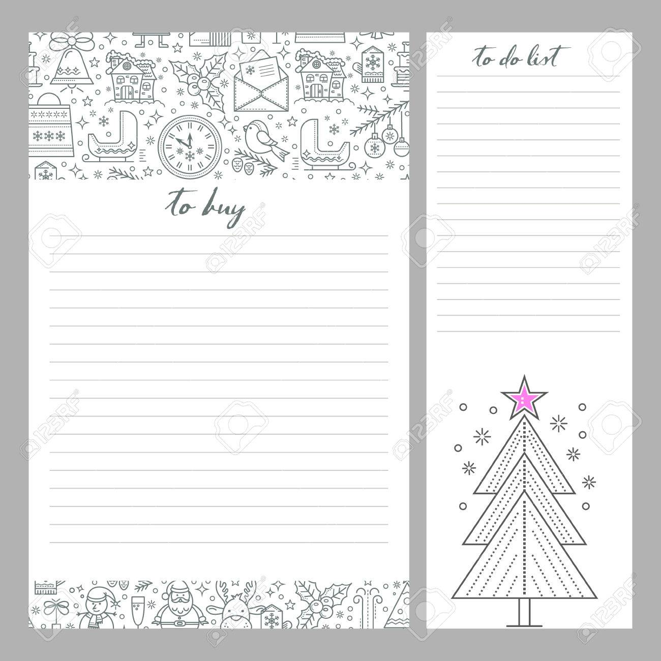 Christmas List Organizer.Monthly Planner Template To Do List And Shopping Organizer Is