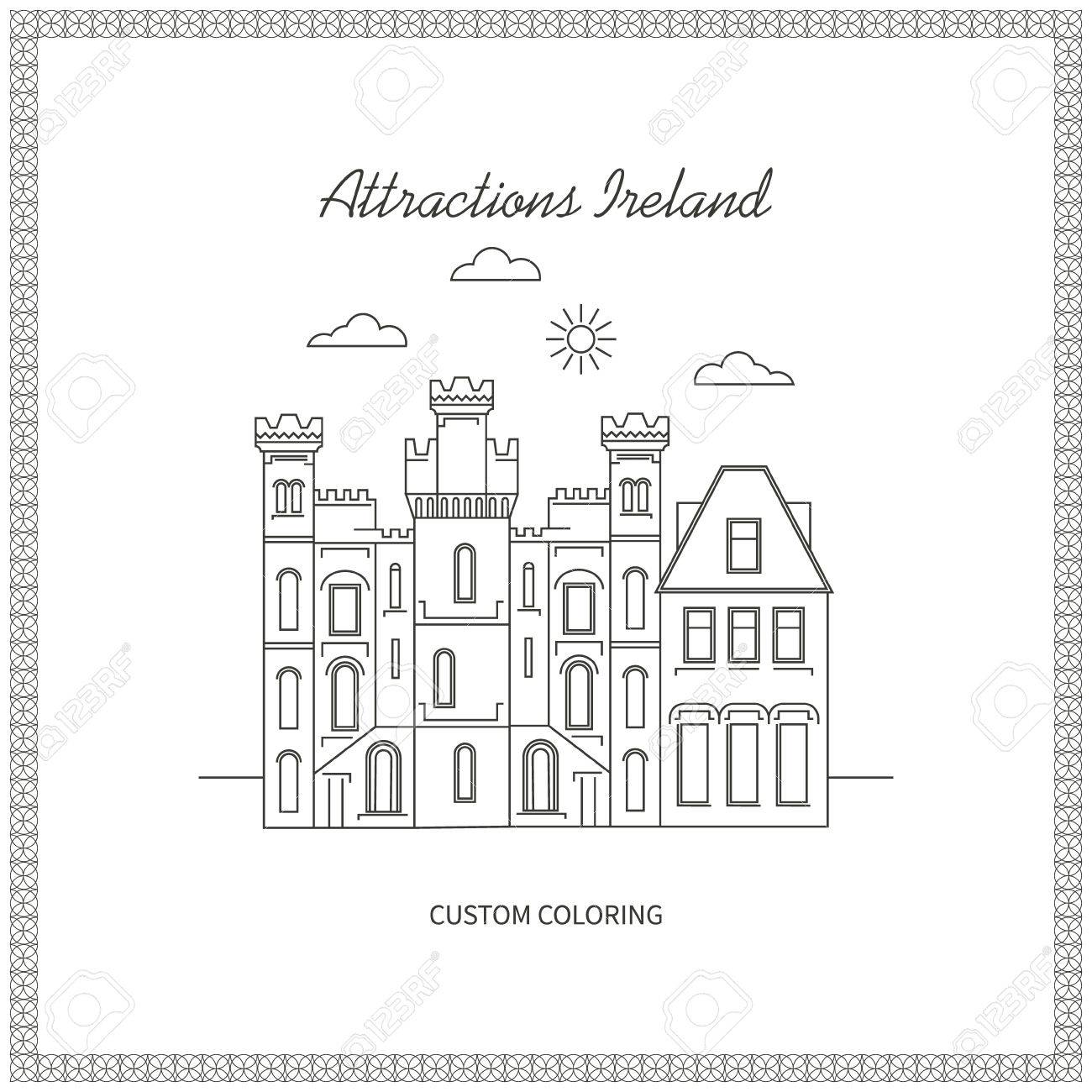 Atracciones Irlanda. Ciudad. Arquitectura. La Ilustración De La ...