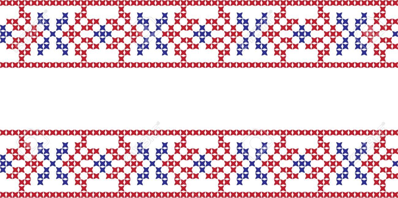 Bordado Punto De Cruz Ornamento Nacional Patrón Eslavo Ucraniano ...