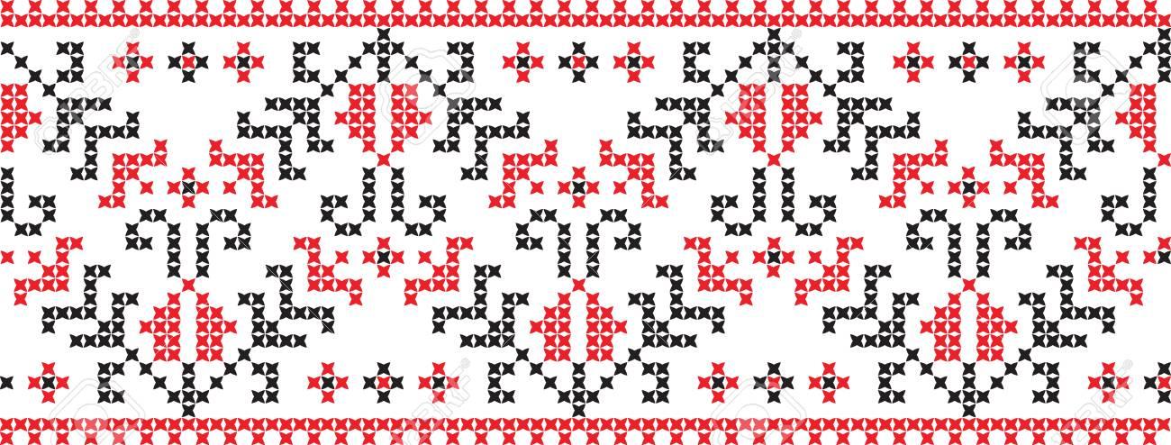 Bordado Punto De Cruz Ornamento Nacional Patrón Eslavo De Ucrania ...