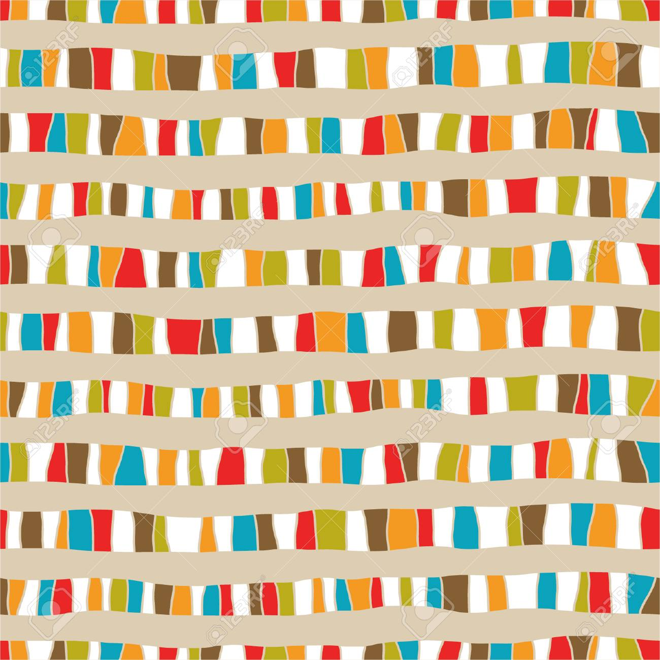 Seamless abstract hand drawn pattern Stock Vector - 26534464