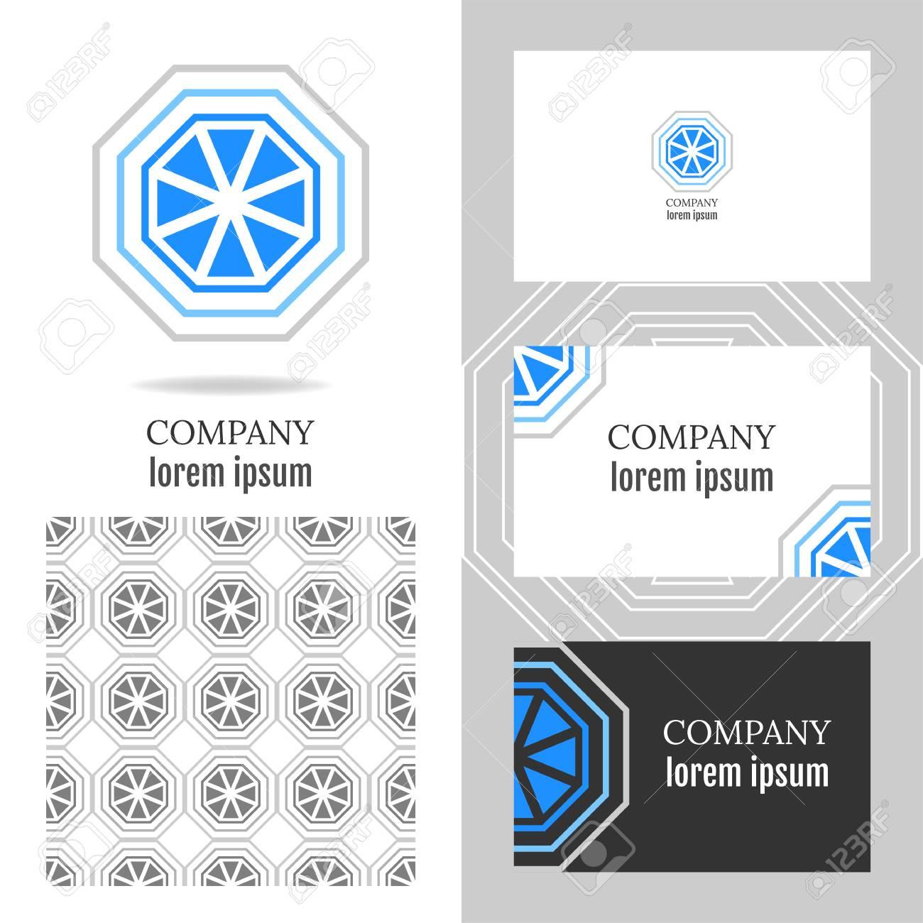 Lment De Polygone Vecteur Pour Ldition Carte Visite Avec Modle Entreprise Mdias Technologie