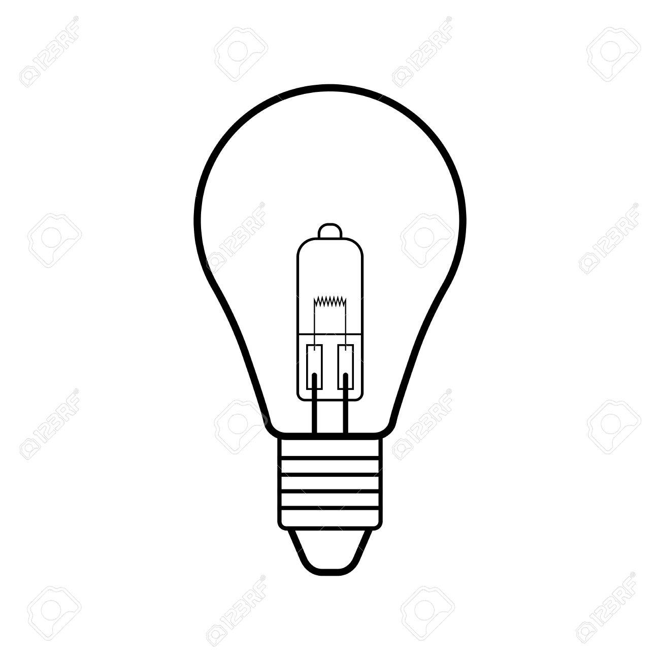 vector square blue icon lighting bulb. Icon Lighting. Halogen Light Bulb. Flat Linear Icon. Lighting Equipment. Energy Saving Vector Square Blue Bulb