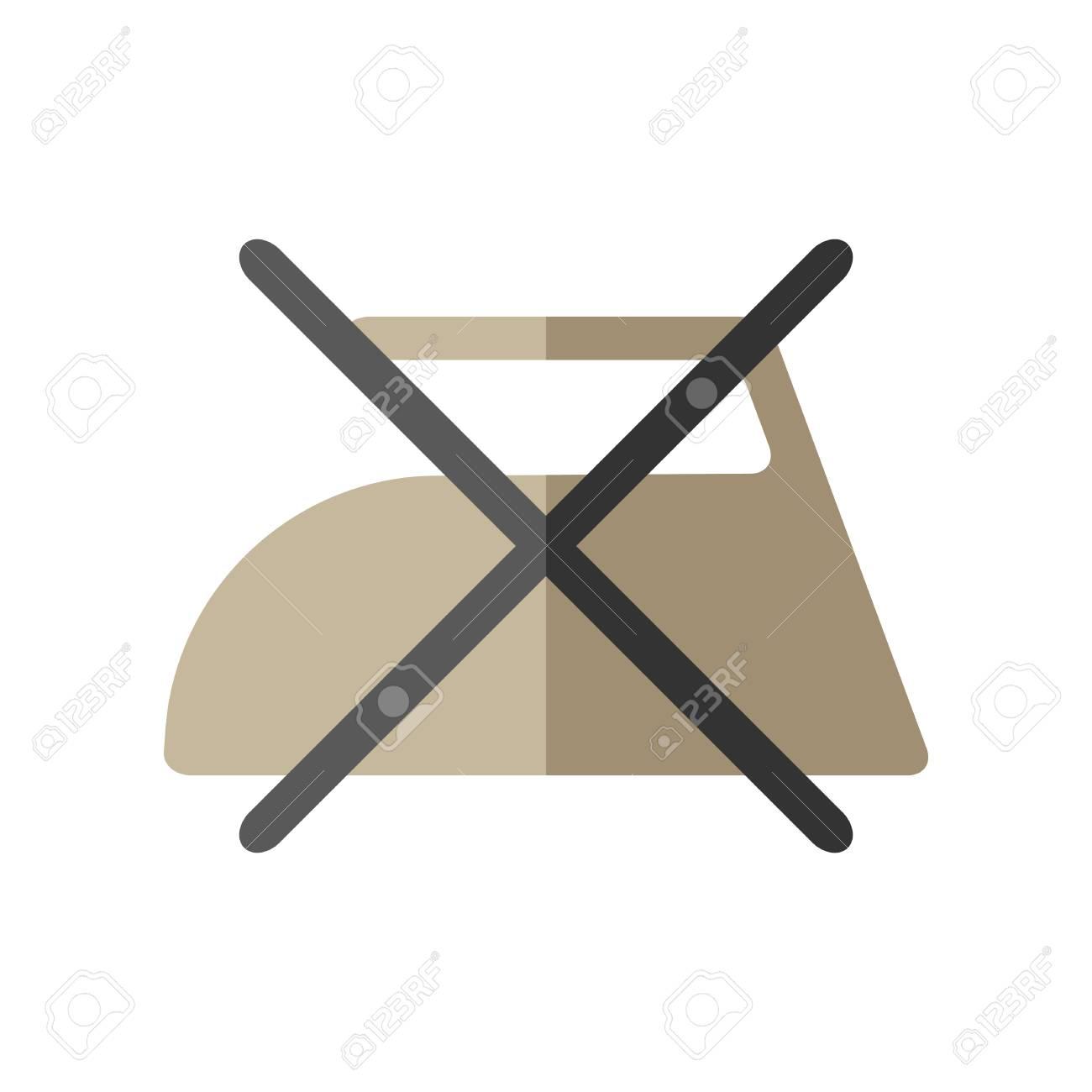 Do Not Iron Flat Icon Of Washing Symbols Care Of Clothing