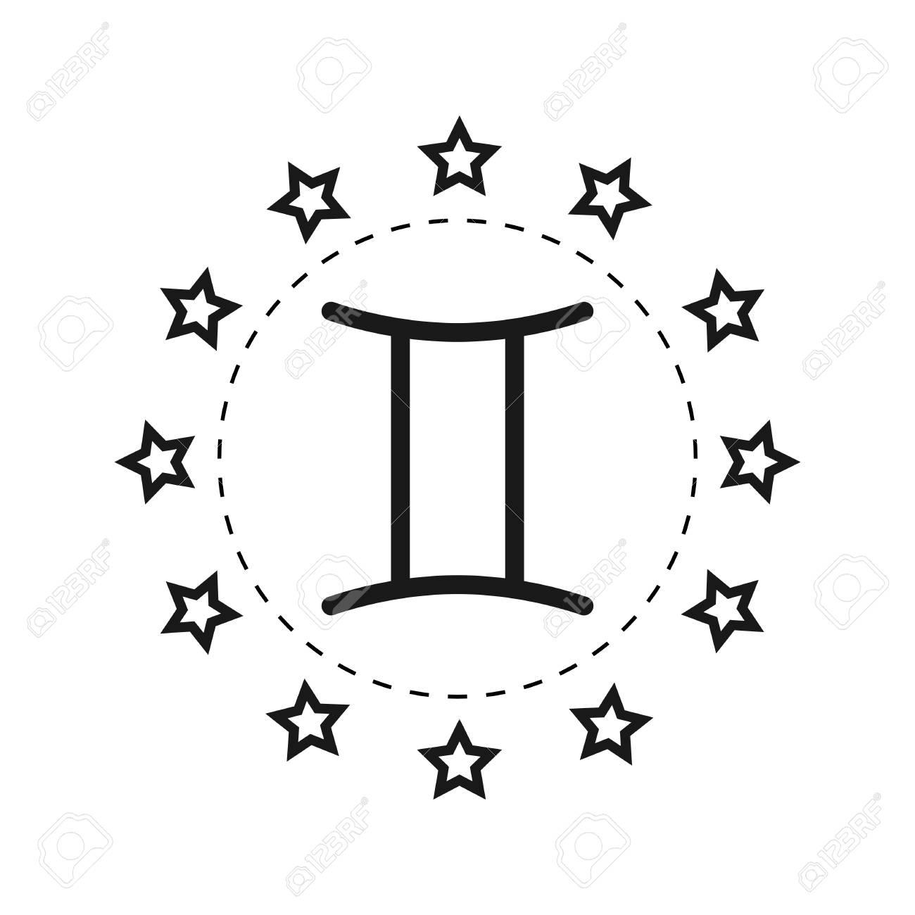 Gemini sign of the zodiac flat symbol horoscope and predictions gemini sign of the zodiac flat symbol horoscope and predictions vector object for buycottarizona