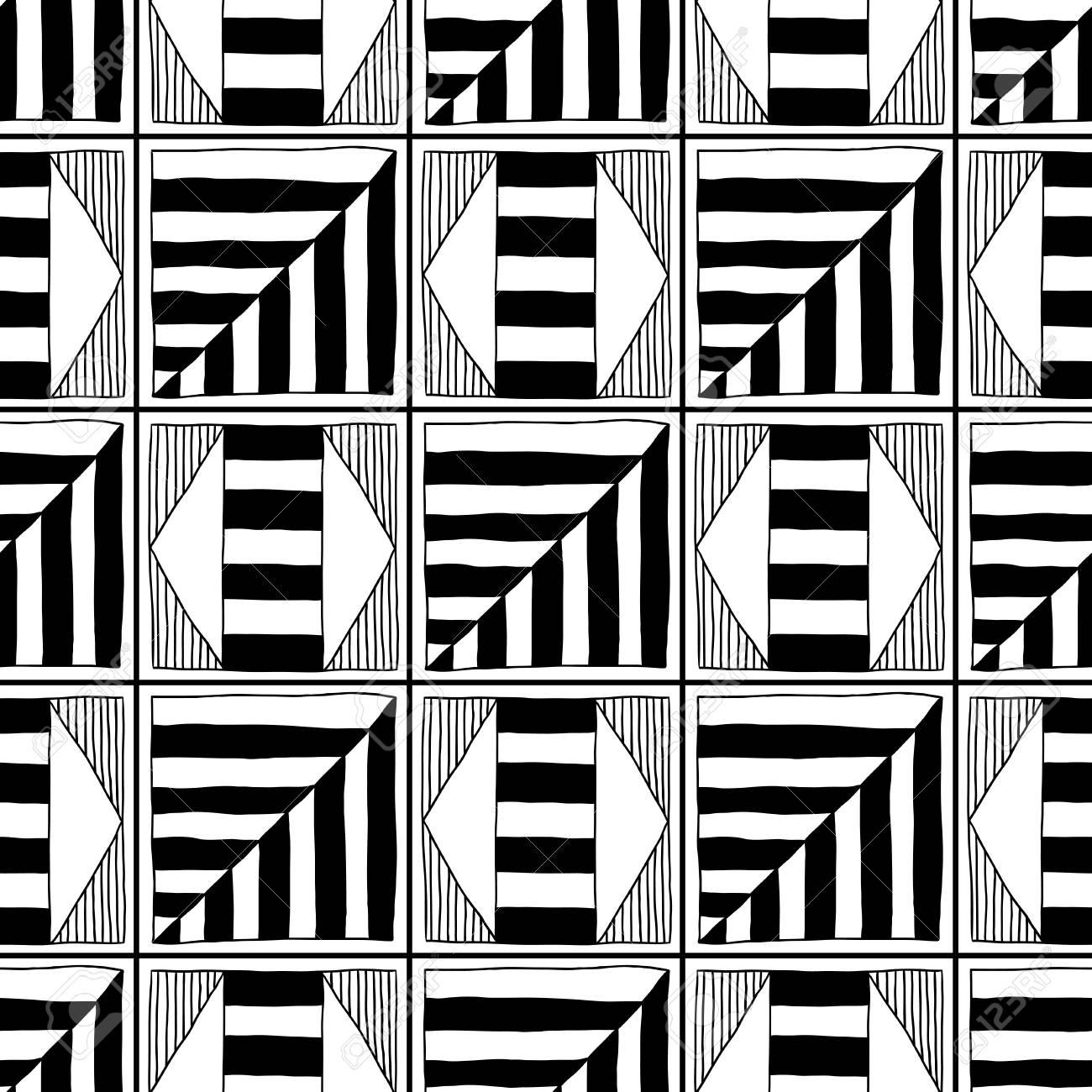 Resumen Patrón Transparente. Ilustración En Blanco Y Negro Para ...