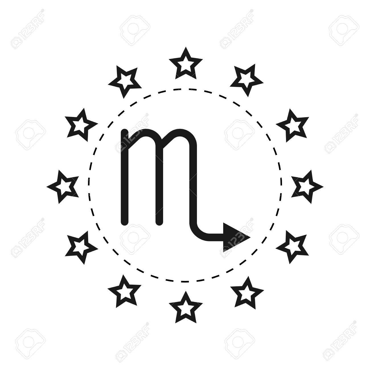 Scorpio  Sign of the zodiac  Flat symbol horoscope and predictions