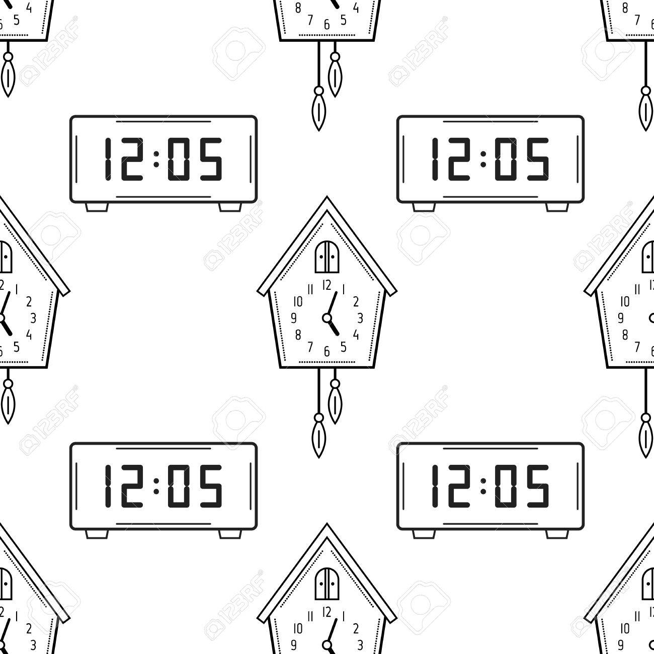Printable Clock Coloring Pages For Kids | 1300x1300